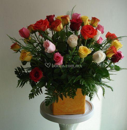 Ramo de rosas en docena