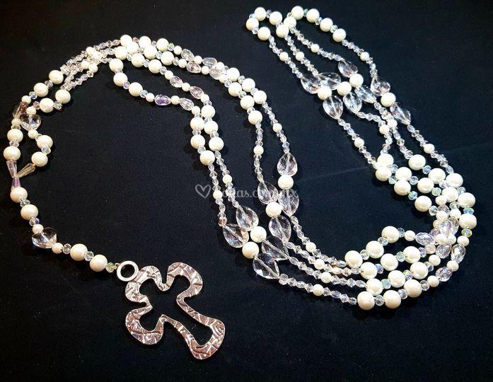 Perla de cristal blanca