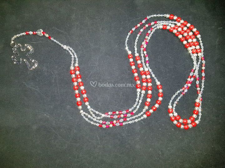 Perla de cristal roja