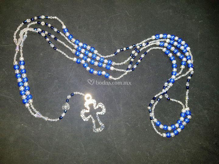 Perla de cristal azul rey