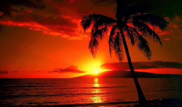 Atardecer en Hawaii