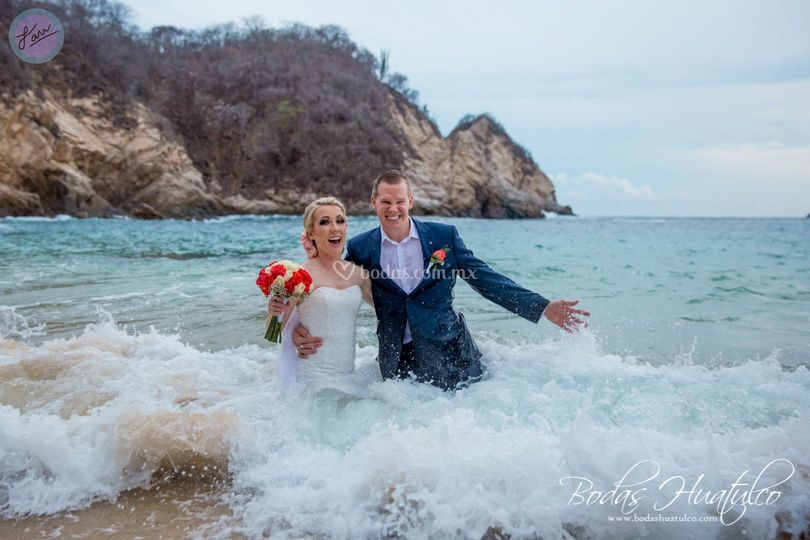 Trash the dress en Huatulco