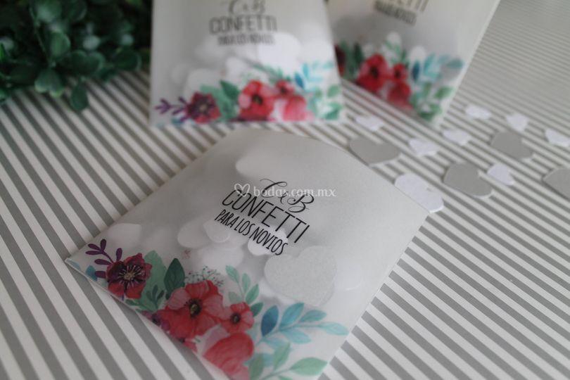 Confetti para los novios