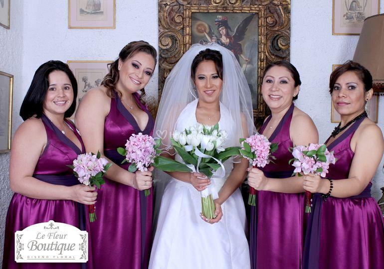 Ramo de novia, ramos damas