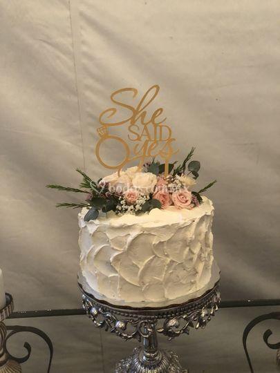 Pastel fiesta de compromiso