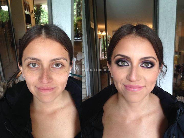 Antes y después soft smokey