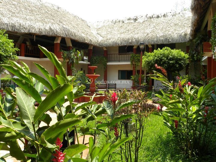 Jard n de hotel villas kin ha foto 36 for Jardin villa ale aguascalientes