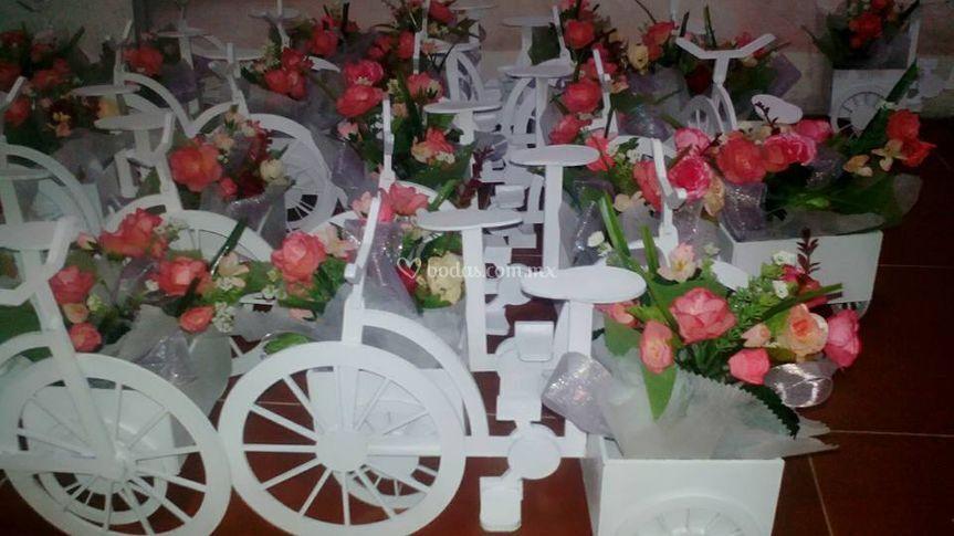 Centros de mesa bicicletas