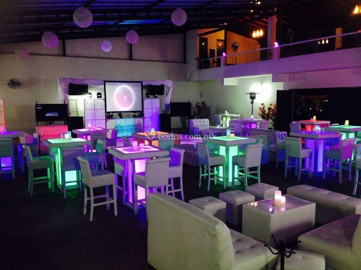 Lounge con led