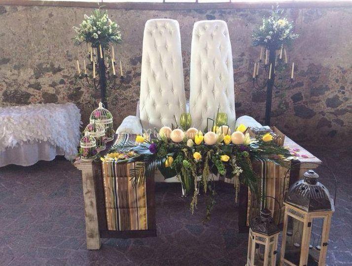 Mesa para los recién casados