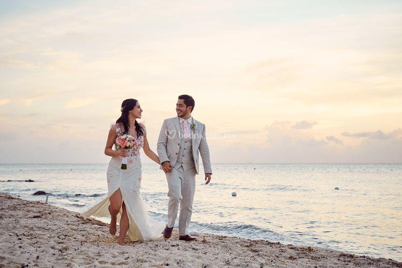 Boda playa Cozumel