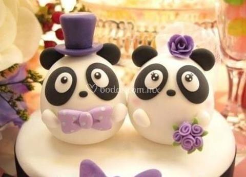 Mini cakes fondant