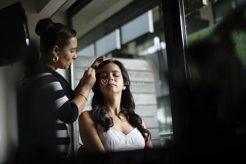 Makeup novia D.F. Polanco