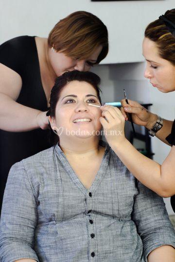 El gran día makeup novia