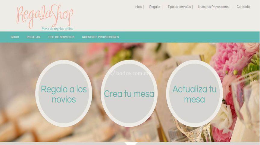 Página principal de Regalashop