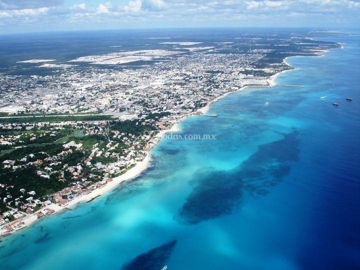 Vista aérea Playa del Carmen