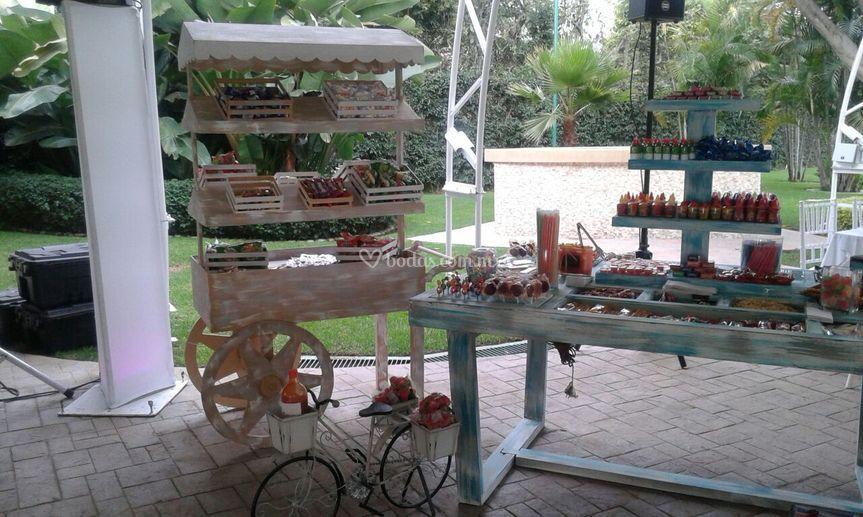 Carreta y mesa de dulces de jard n quinta real foto 25 for Jardin quinta real