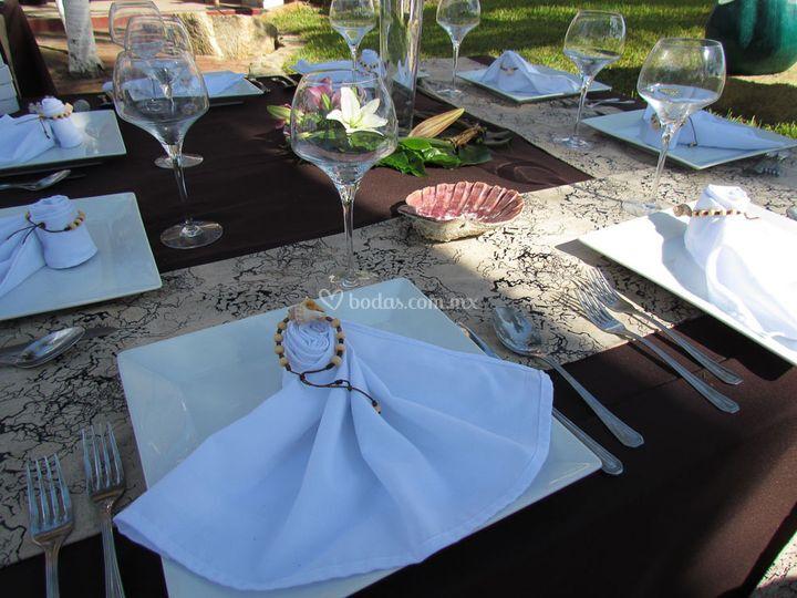 Montaje para boda en playa