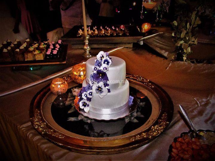 Antigua base para el pastel