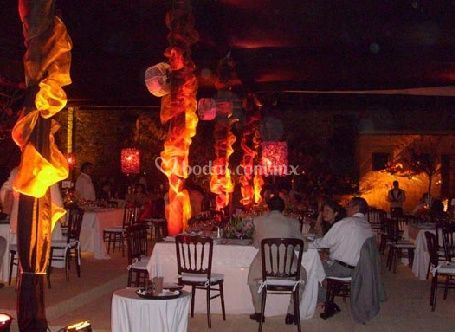 Decoracion del evento con luces