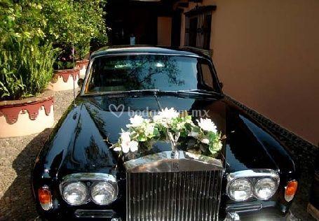 Carro de bodas estilo antiguo