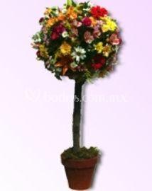 Mini arbol con flores