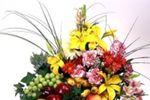 Arreglo floral con frutas de Lo Kreativo