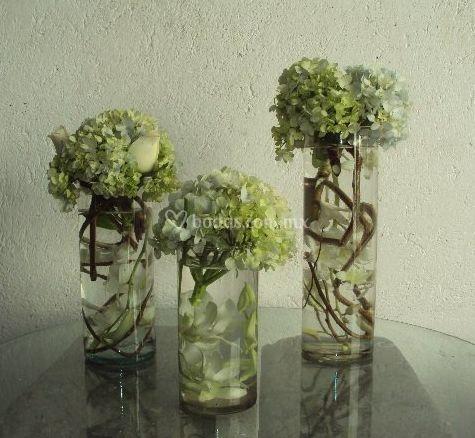 En vasos de cristal