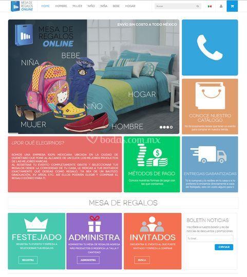 Página Web de Mesa de Regalos Online