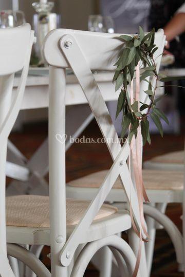 Detalles P/ sillas de novios
