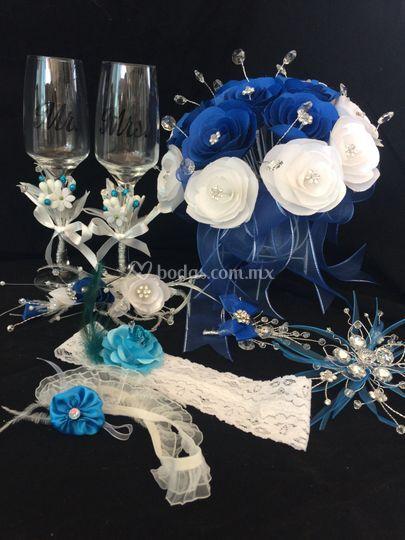 D, talles para tu boda en azul
