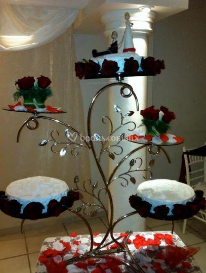 Vista de el pastel