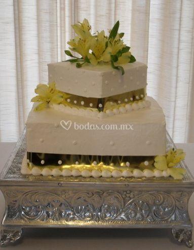 Elegantes pasteles de bodas