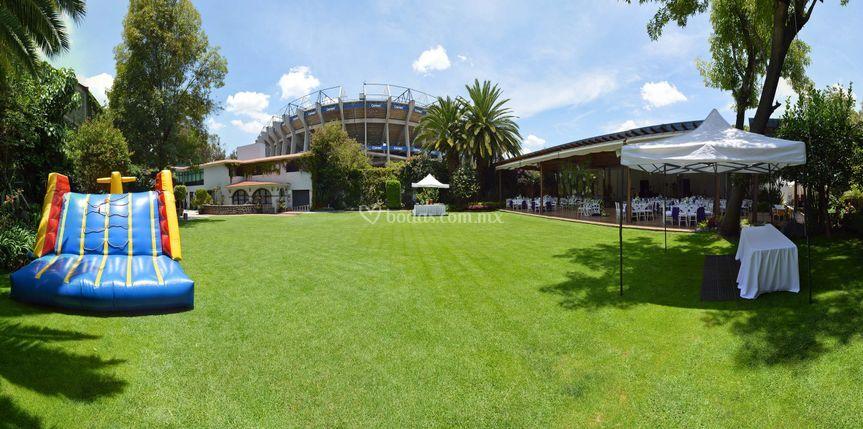Vista jardín Estadio Azteca