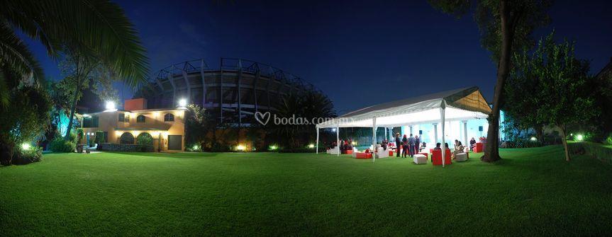 Jardín vista noche