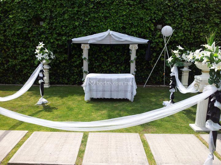 Decoracion Jardin Boda Civil ~ Decoraci?n para boda civil de Jard?n Alejandra  Foto 16