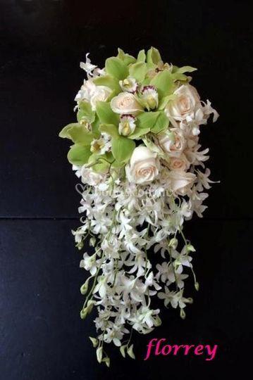 Ramo de orquídeas en cascada