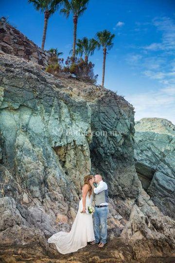 En las rocas