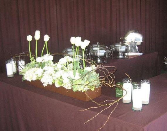 Arreglo con flores blancas