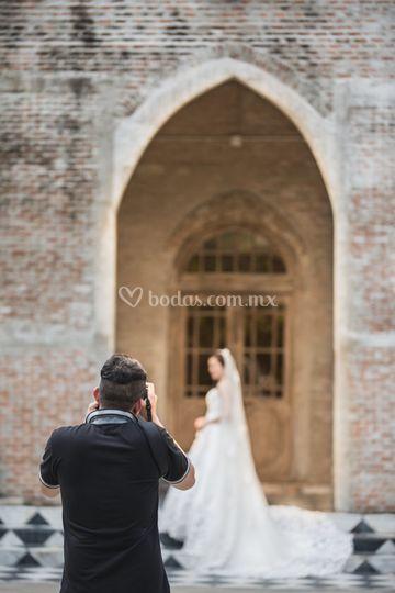 Detrás de cámara boda iglesia