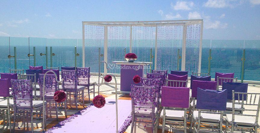 Sky Wedding Deck