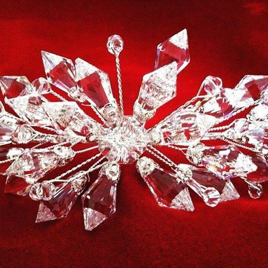 Tocado cristal cortado