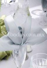 Detalle de la decoración de una mesa