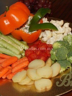 Charola verduras
