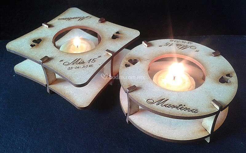 Porta velas MDF