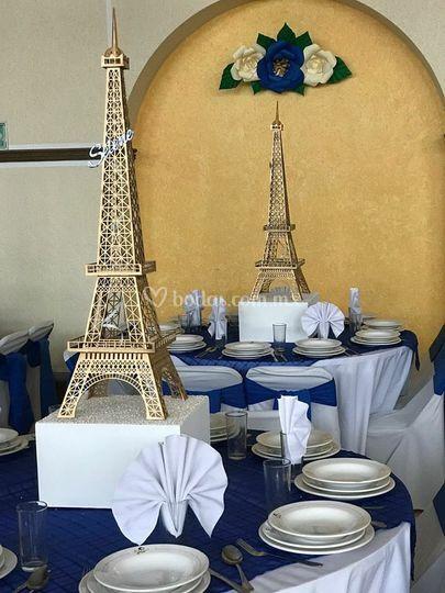 Torre Eiffel centro de mesa
