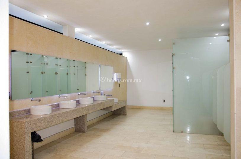 Baños de cristal templado