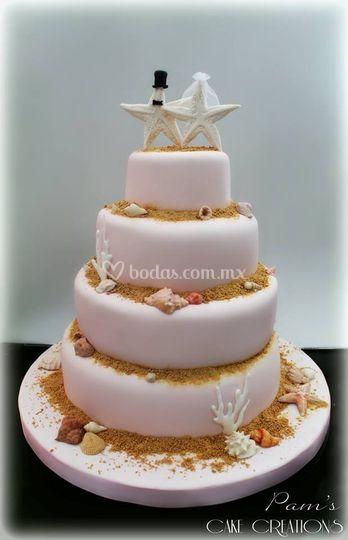 Wedding cake sea