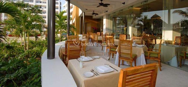 Restaurante en terraza