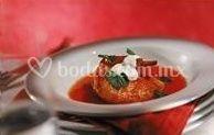 Comida de mar en salsa